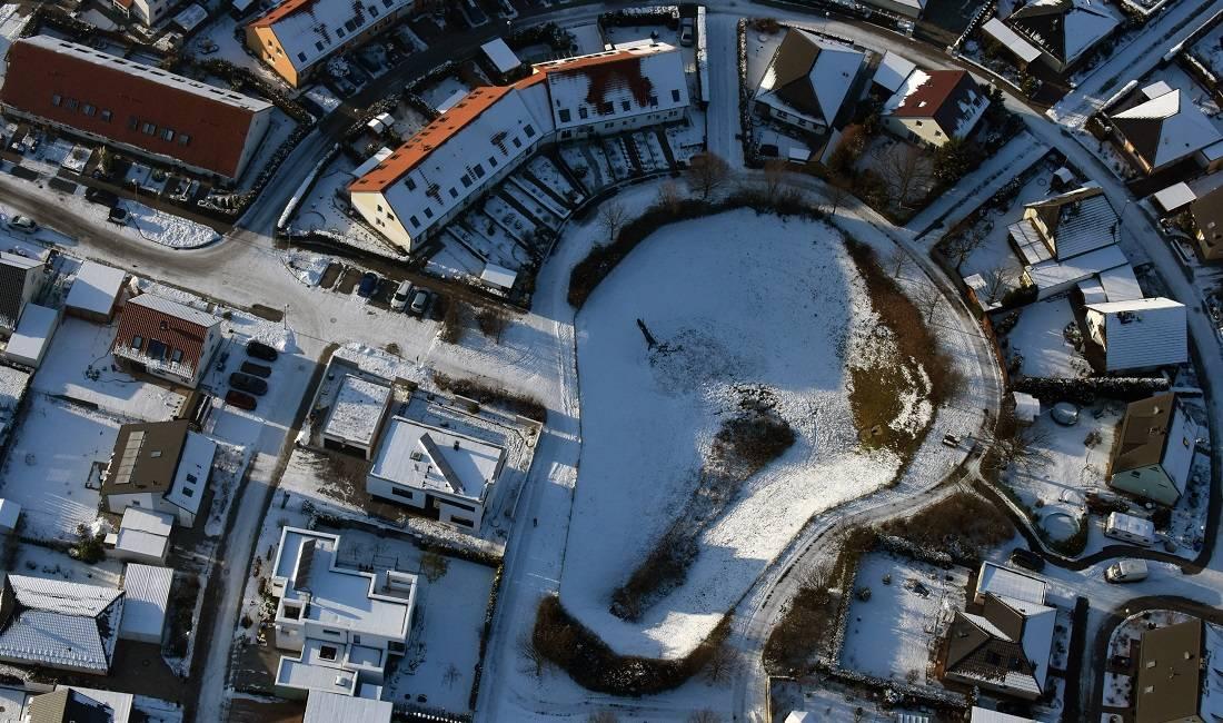 Eigenheimsiedlung im Schnee